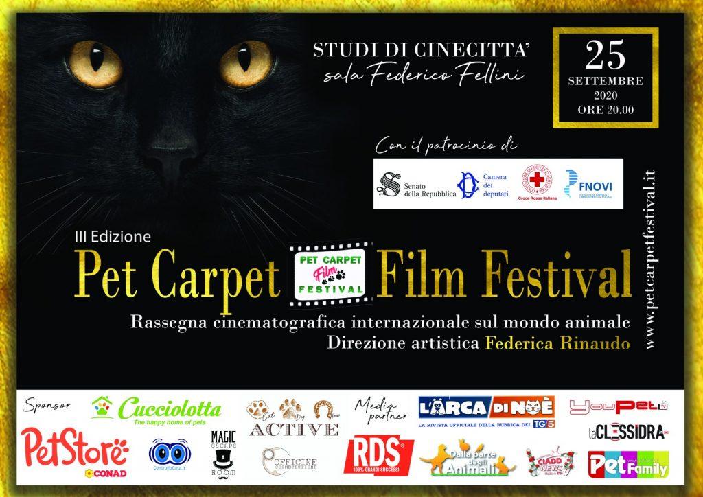 Pet Carpet Film Festival 2020 - locandina orizzontale